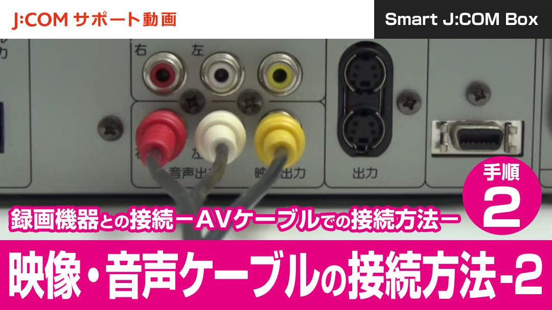Smart J:COM Box 録画機器との接続-AVケーブルでの接続方法
