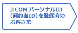 J:COM パーソナルID(契約者ID)を登録済のお客さま